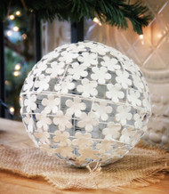 Large White Flowered Decorative Ball