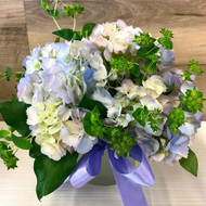 Bouquet of Lavender-blue Hydrangeas