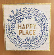 """""""Happy Place"""" Wooden Sign"""