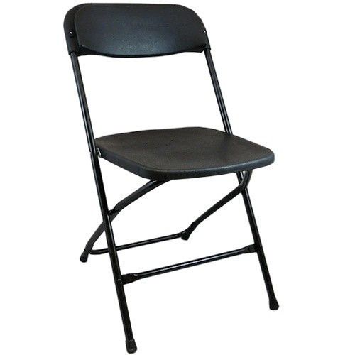 Plastic Folding Chairs | Black Foldable Chairs