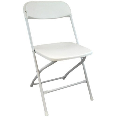 Superbe Plastic Folding Chairs | White Foldable Chairs