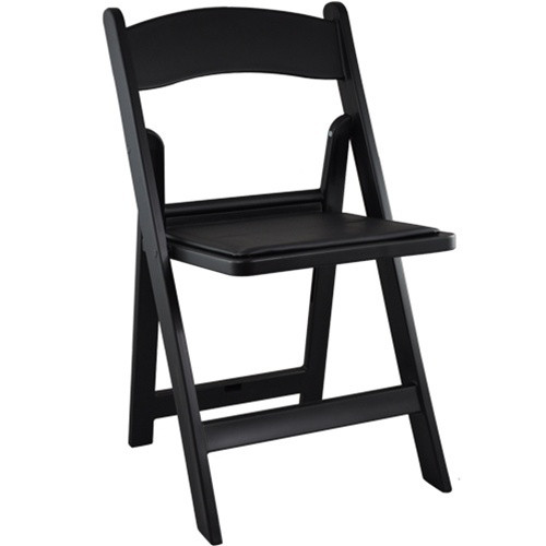 Wedding Chairs Black Resin Folding