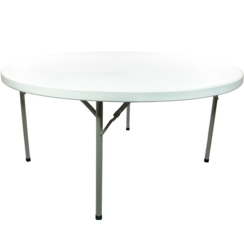4 ft round plastic folding banquet table folding tables. Black Bedroom Furniture Sets. Home Design Ideas