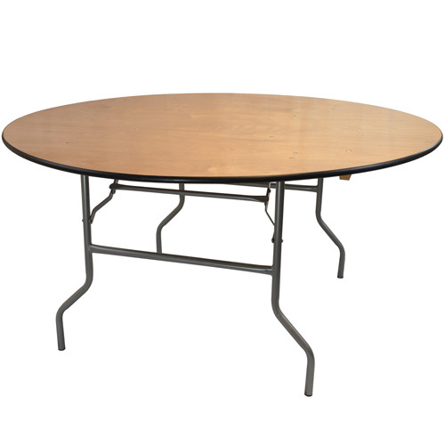 6 Ft Round Wood Folding Banquet Table Folding Tables