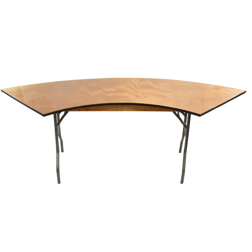 6 Ft Serpentine Wood Folding Banquet Table Folding Tables