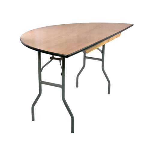 4 ft Half Round Wood Folding Banquet Table Folding Tables