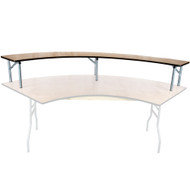 Banquet Tables | Serpentine Bar Topper | Folding Tables