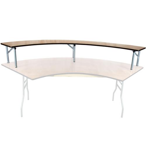6 Ft Serpentine Wood Banquet Table Bar Riser 6 Ft
