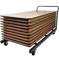 Folding Table Cart | Rectangular Folding Tables