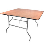 Banquet Tables | 4 ft. Square Folding Table | Wood Folding Table
