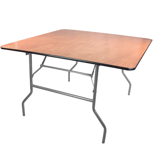 4 ft. square wood folding banquet table | folding tables