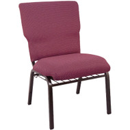"Church Chairs For Sale | 21"" Burgundy Pattern Church Chair"
