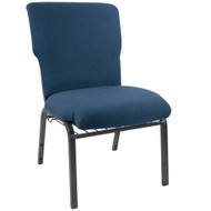"Church Chairs For Sale | 21"" Navy Church Chair"