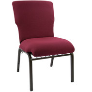 "Church Chairs For Sale | 21"" Maroon Church Chair"