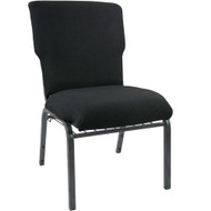 "Church Chairs For Sale | 21"" Black Church Chair"
