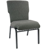 "Church Chairs For Sale | 21"" Charcoal Gray Church Chair"