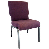"Church Chairs For Sale | 20.5"" Grape Amethyst Church Chair"