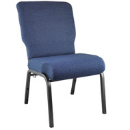 "Church Chairs For Sale | 20.5"" Blue Basket Weave Church Chair"