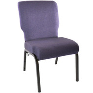 "Church Chairs For Sale | 20.5"" Royal Purple Church Chair"