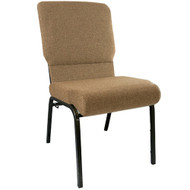 "Church Chairs For Sale | 18.5"" Mixed Tan Church Chair"