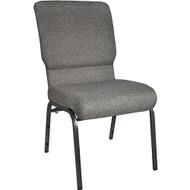 "Church Chairs For Sale | 18.5"" Charcoal Gray Church Chair"