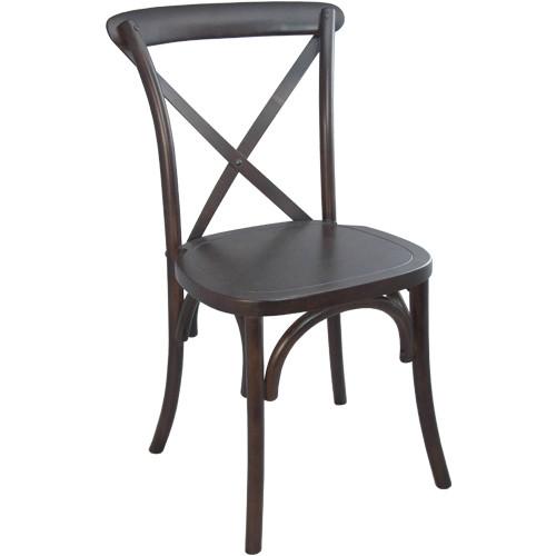back chair | walnut | cross back chairs