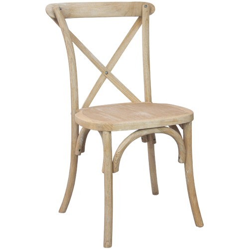 Ordinaire X Back Chair | Natural With White Grain | Cross Back Chairs