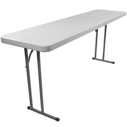 Ft Rectangular Plastic Folding Training Table X - 18 x 60 training table