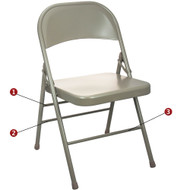 Metal Folding Chair | Beige Folding Chairs