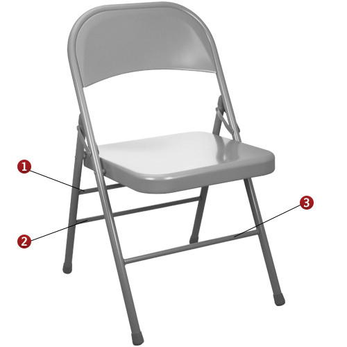 Gray Metal Folding Chairs Triple Braced Discount Folding Chairs