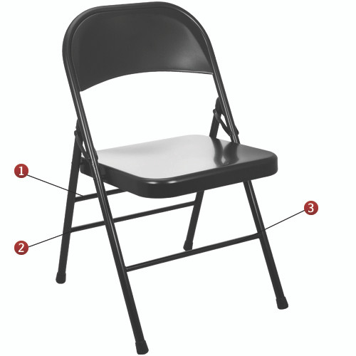 Metal Folding Chair | Black Folding Chairs