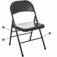 Metal Folding Chair | Black Folding Chairs