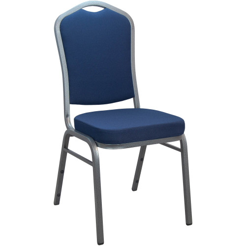Banquet Chairs Navy Crown Back Stackable Chairs