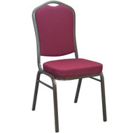 Banquet Chairs | Maroon Crown Back | Stackable Chairs