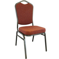 Banquet Chairs | Cinnamon Crown Back | Stackable Chairs