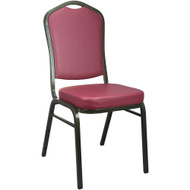 Banquet Chairs | Burgundy Vinyl | Stackable Chairs