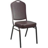 Banquet Chairs | Mocha Vinyl | Stackable Chairs