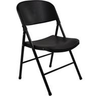 Plastic Folding Chairs | Oversized | Black Plastic Folding Chair