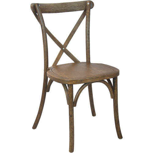 X Back Chair | Hand Scraped Dark Natural | Cross Back Chairs