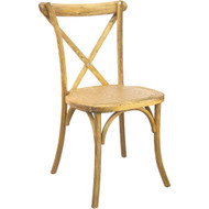 xback chair hand scraped natural cross back chairs