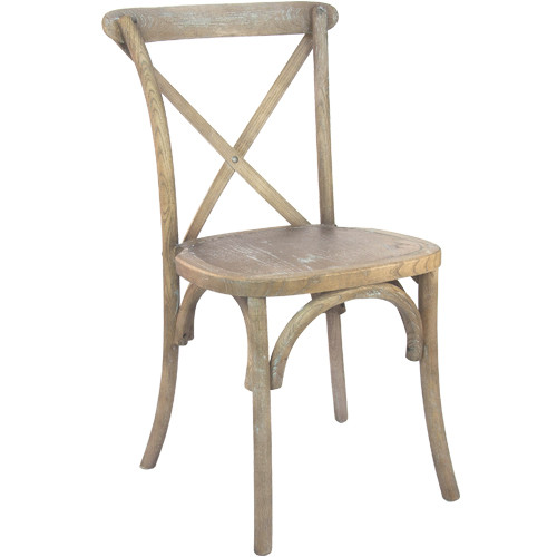 X Back Chair | Medium Natural With White Grain | Cross Back Chairs