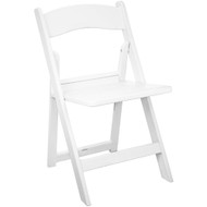 White Resin Folding Wedding Chairs With Slatted Seat [RFWCA-100-SLAT]