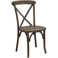 X Back Chair   Dark Driftwood   Cross Back Chairs