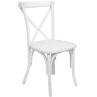 X-Back Chair | White Resin | Cross Back Chairs