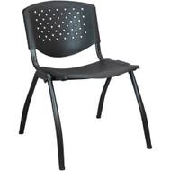Advantage Black Plastic Stack Chair - Vented Back [ADV-SC-VENT]