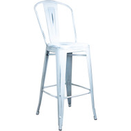Distressed White Tolix Bar Stool [TC-BAR-Dis-White]