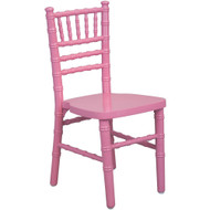 Kids Pink Wood Chiavari Chair [KID-WDCHI-Pink]