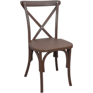 X-Back Chair | Brown Resin | Cross Back Chairs