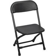 Kids Black Plastic Folding Chair [PPFCKID-Black]