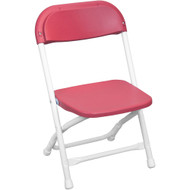 Kids Red Plastic Folding Chair [PPFCKID-Red]